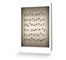 Cat Song Music  Greeting Card
