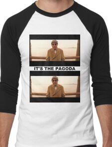 It's the PAGODA - Mr. Pagoda Men's Baseball ¾ T-Shirt