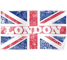 Aged London Flag Poster