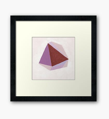 Amethyst - Acrylic Abstract Painting Framed Print