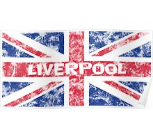 Aged Liverpool Flag Poster