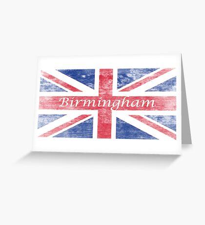Aged  Birmingham Flag Greeting Card