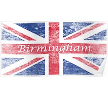 Aged  Birmingham Flag Poster