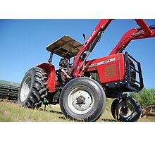 Got to get this hay baled Photographic Print