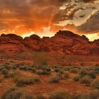 Explosive Sunset - Valley of Fire by JamesA1