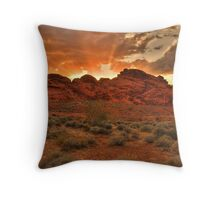 Explosive Sunset - Valley of Fire Throw Pillow