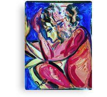 LULLABY - acrylic, tempera, paper 18 x 24''   Canvas Print