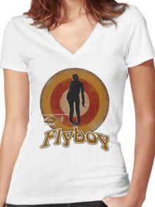 Flyboy Women's Fitted V-Neck T-Shirt