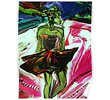 fragment STAR POEM - acrylic, tempera, paper 18 x 24'' Poster