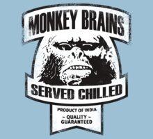 Monkey Brains (B&W Print) by GritFX