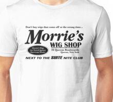 Morrie's Wig Shop (Black Print) Unisex T-Shirt