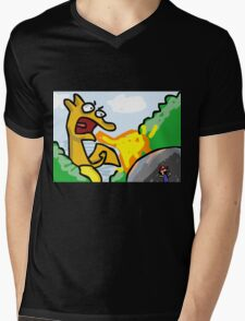 Charizard and Ash Mens V-Neck T-Shirt