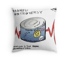 Dolphin Meat Editorial Business Cartoon Throw Pillow