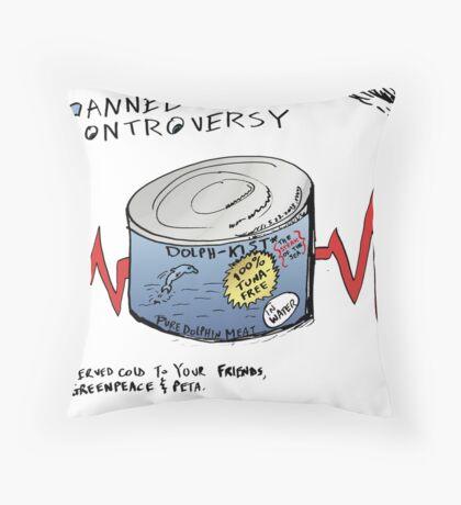 Dolphin Meat Editorial Business Cartoon Throw Pillow