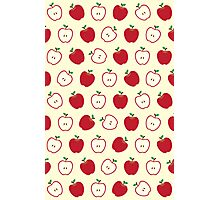 Cute Apple Picture Pattern Photographic Print