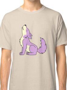 Light Purple Howling Wolf Pup Classic T-Shirt