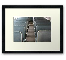School bus days Framed Print