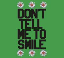 Don't Tell Me To Smile - Black Kids Tee