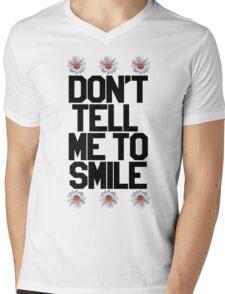 Don't Tell Me To Smile - Black Mens V-Neck T-Shirt