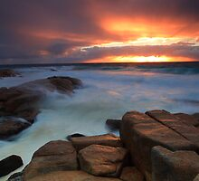 Bay of fires. Binalong Bay  by Donovan wilson