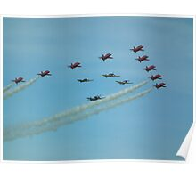 The Red Arrows with Eagle Squadron  Poster