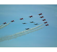 The Red Arrows with Eagle Squadron  Photographic Print
