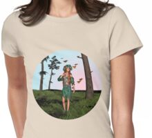 Spring and Butterflies Womens Fitted T-Shirt