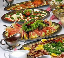 Catering food at a Wedding party by psctran