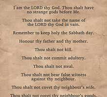 The Ten Commandments by morningdance