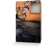 fish in a puddle Greeting Card
