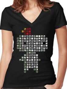 Fez Tiles Women's Fitted V-Neck T-Shirt