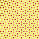 Pink and Yellow Pineapple Rings Pattern by KarterRhys