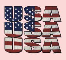 USA USA USA 4th July One Piece - Long Sleeve