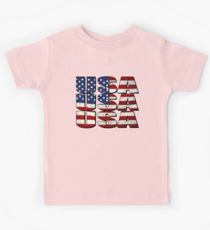 USA USA USA 4th July Kids Tee