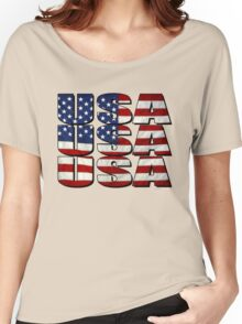 USA USA USA 4th July Women's Relaxed Fit T-Shirt