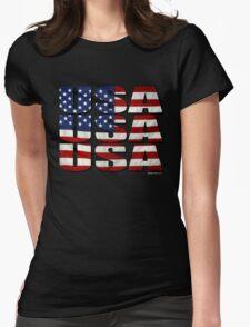 USA USA USA 4th July Womens Fitted T-Shirt