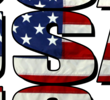 USA USA USA 4th July Sticker