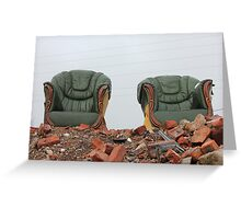 The Royal thrones of salt house mills Lie empty Greeting Card