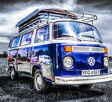Blue VW campervan  by Ian Hufton