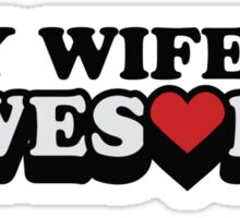 My Wife Is Awesome Valentines Day Sticker
