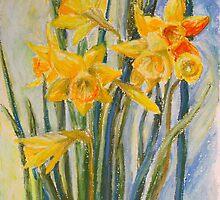 Daffodils by Barbara Pommerenke