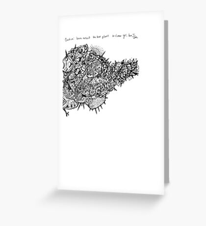 Abstract Art: Growing Figure Greeting Card