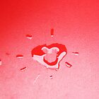 Wet heart - red by ivanaantolovic