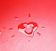 Wet heart - red by ivanaantolovic