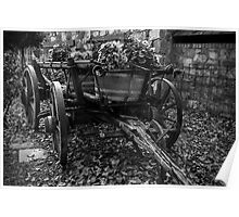 Wooden Wagon Wheels Poster