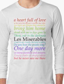 Les Miserables Lyric Design Long Sleeve T-Shirt
