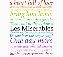 Les Miserables Lyric Design Unisex T-Shirt