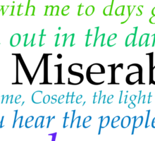 Les Miserables Lyric Design Sticker