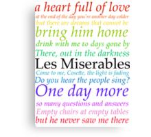 Les Miserables Lyric Design Canvas Print
