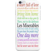 Les Miserables Lyric Design iPhone Case/Skin